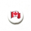 "Bead Discs 22mm ""Canada"" On 1 Side And Flag On Other Side"